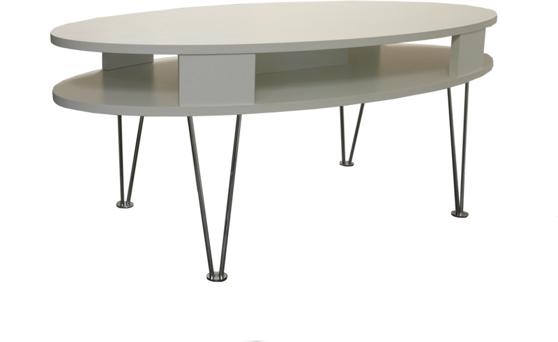 Futura Oval Coffee Table White Sofa Tables